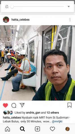 Forum Media / Blogger MRT Jakarta (Kamis, 27/12/2018)