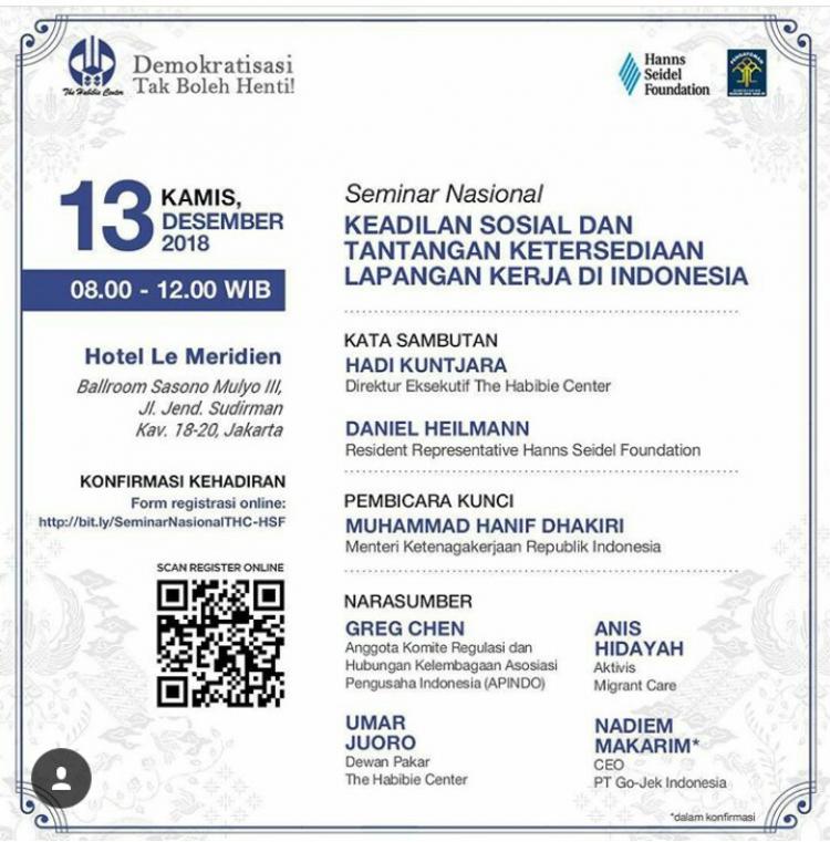 Seminar Nasional - Keadilan Sosial Dan Tantangan Ketersediaan Lapangan Kerja Di Indonesia Tau Dari Blogger - TDB