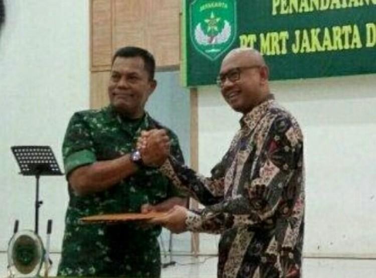 PT MRT Jakarta Sepakati Nota Kesepahaman dengan  Komando Daerah Militer Jaya/Jayakarta terkait Perbantuan Pengamanan Objek  Tertentu MRT Jakarta