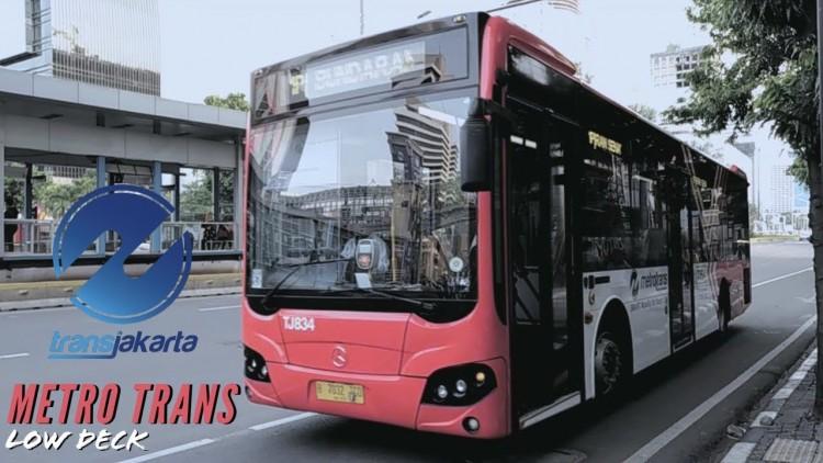Bus Low Deck Metro Trans Dari Transjakarta