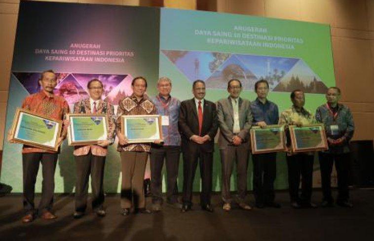 Penghargaan Anugerah Indeks Daya Saing 10 Destinasi Prioritas Kepariwisataan Indonesia